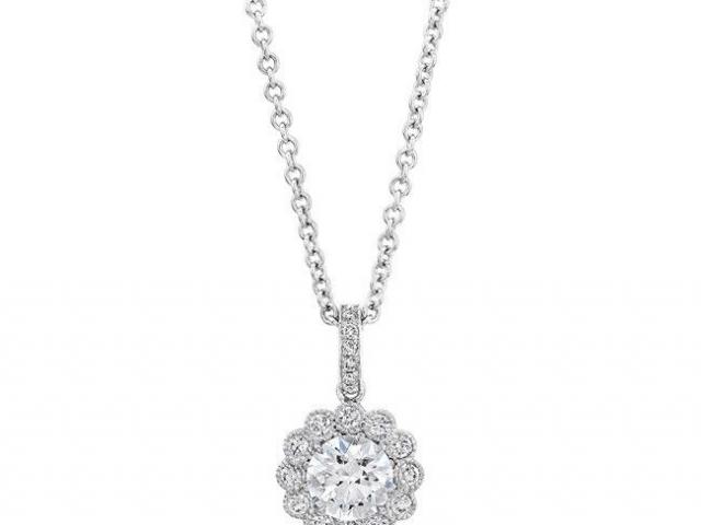 wedding jewelry diamond solitaire necklace