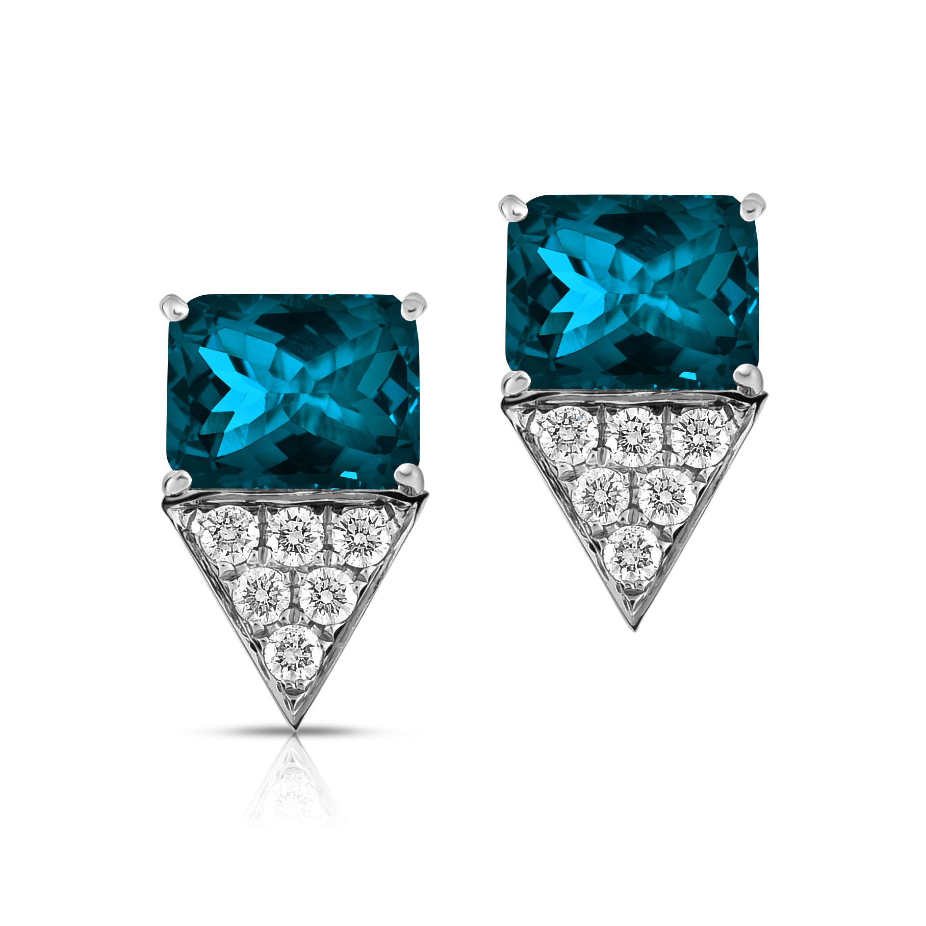 Colored Stone Earrings Jewelry Design Gallery