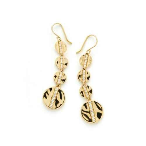 dangling hammered earrings
