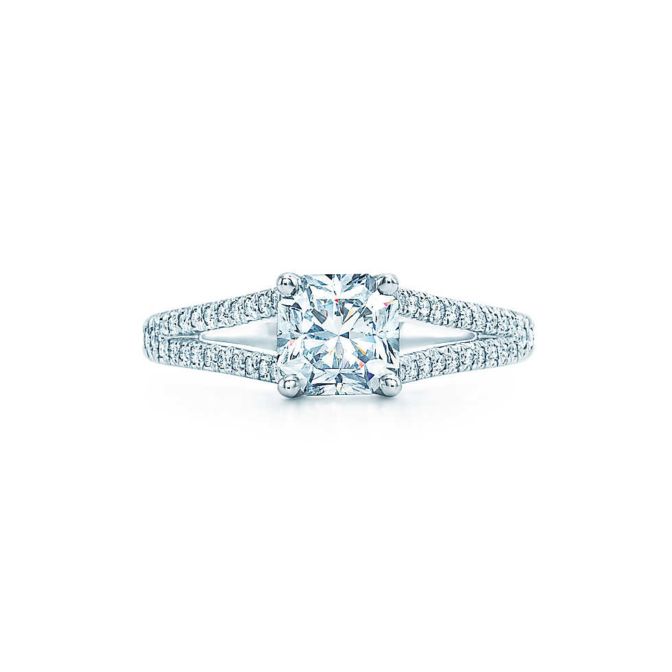 ring engagement tiffany p cut diamond estate co carat lucida