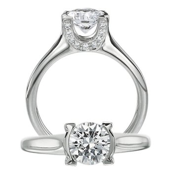 fancy custom designed diamond engagement ring