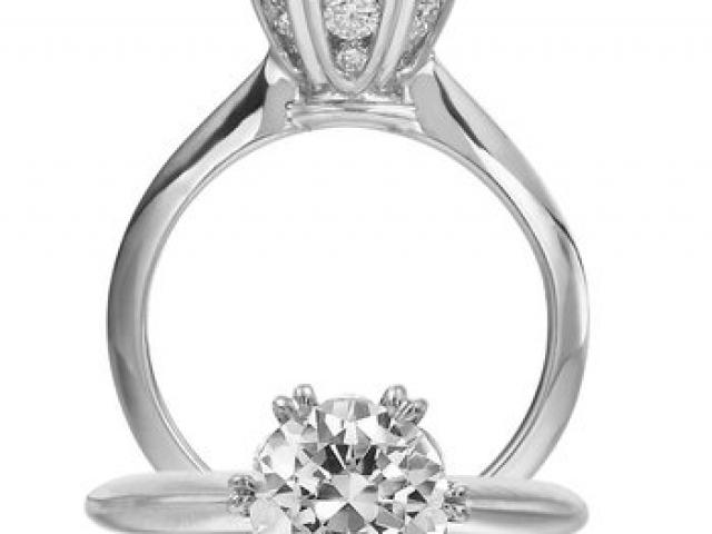 fancy custom designed diamond engagement ring