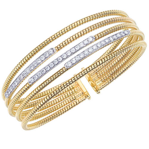 is jewelry bracelets guarantees medium pre us en stylish in bracelet tone white bangle crafted an authentic this two bangles vintage lxrandco estate diamond gold