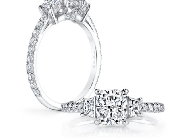 Diamond Solitaire Engagement ring princess cut diamond