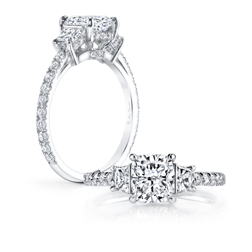 Diamond Solitaire Engagement ring princess cut diamond
