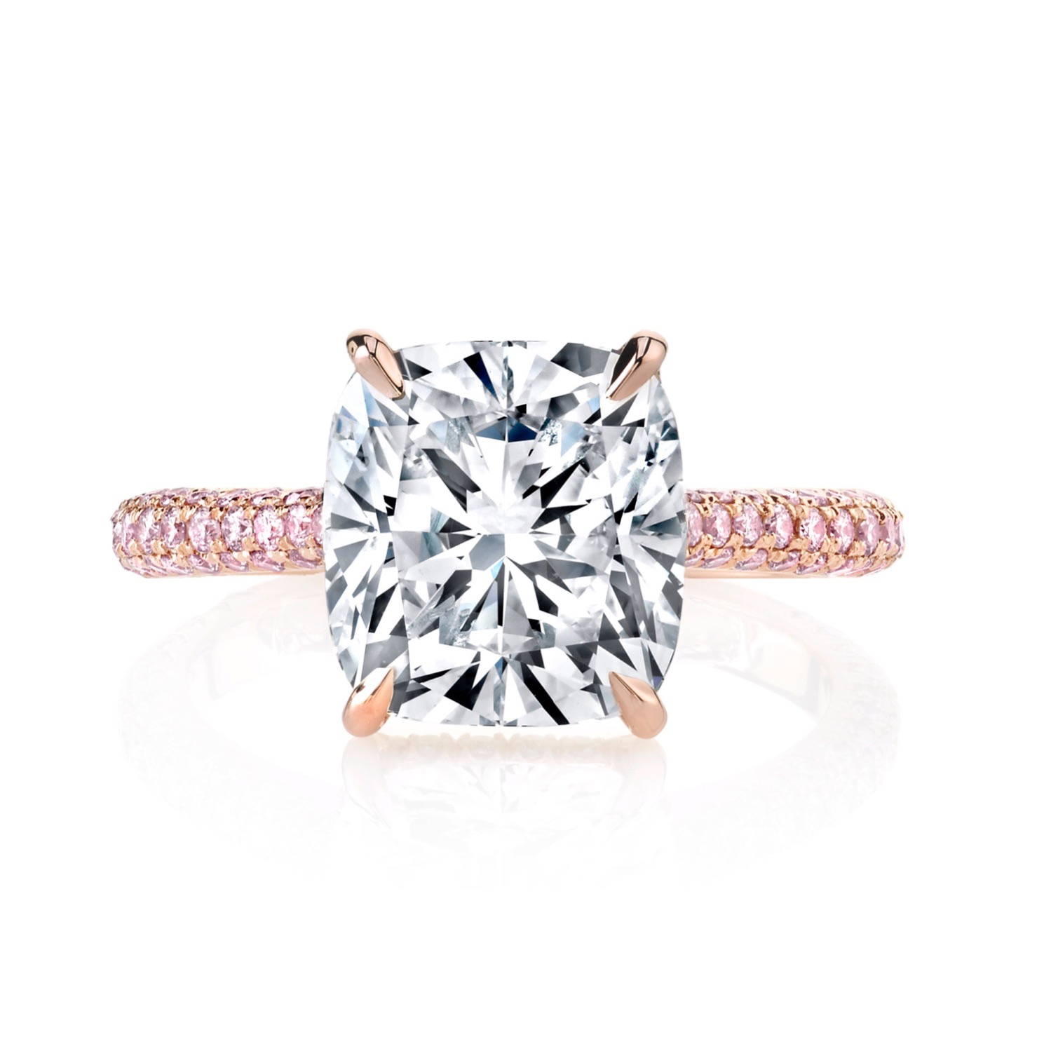 Diamond Solitaire Engagement ring cushion cut diamond