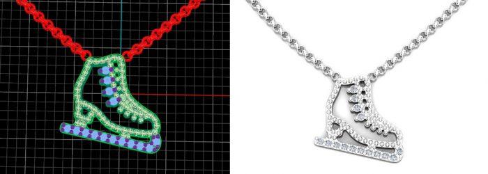 fancy custom white diamond, yellow diamond art deco, modern necklaces