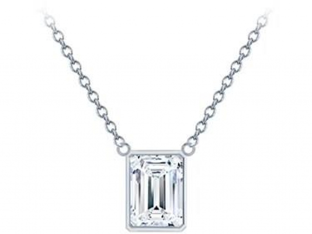 Diamond solitaire necklace, tiffany