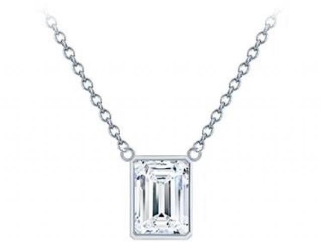 Diamond solitaire necklace, tiffany
