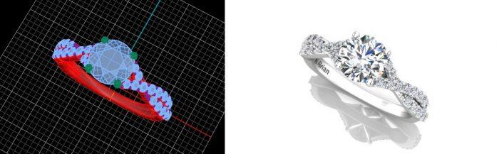 custom infinity engagement ring