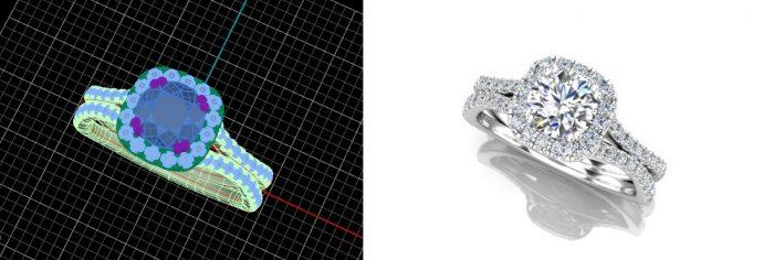 double split diamond band