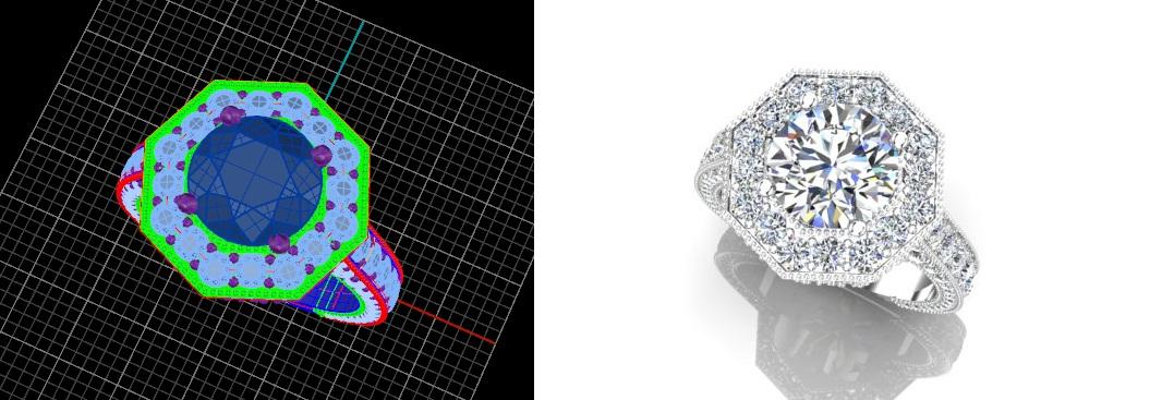 octagon diamond halo
