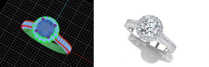 round diamond halo