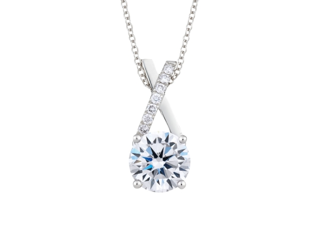 diamond solitaire necklace, infinity