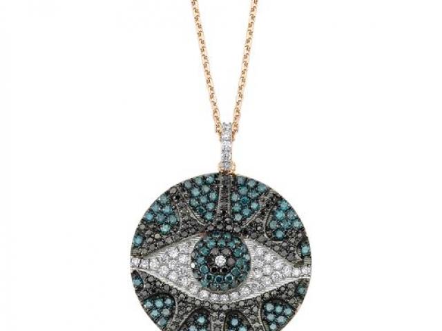 custom necklace  evil eye
