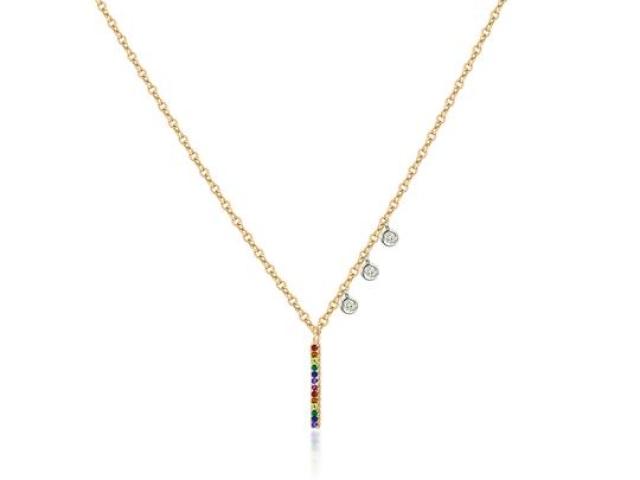 custom necklace  rainbow